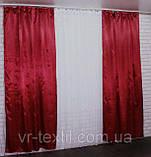 Однотонная ткань атлас. Ширина в рулоне 1,5м. Цвет бордовый. 3ша, фото 3