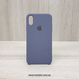 Чехол Silicone Case для Apple iPhone X / Xs lavender grey