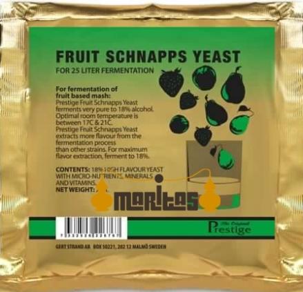 Фруктовые дрожжи Fruit Schnapps yeast