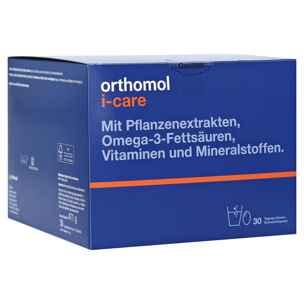 Orthomol I-CAre, Ортомол Ай-Кеа 30 днів (порошок/капсули)