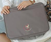 Дорожная сумка органайзер для путешествий с ручкой на чемодан Серая, Органайзеры, косметички, кофры
