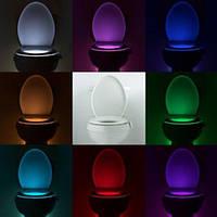 Подсветка для унитаза 8 LED, товары для кухни, товары для дома