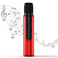 Караоке микрофон Losso K1 Premium красный (стерео, звуковая карта)