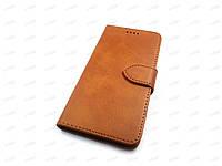 Кожаный чехол книжка для ZTE Blade A3 2020 (коричневый)