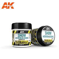 Эффект снега. Порошковая текстура для имитации снега 100 мл. AK-INTERACTIVE AK-8010