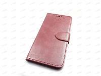 Кожаный чехол книжка для ZTE Blade A3 2020 (розовый)