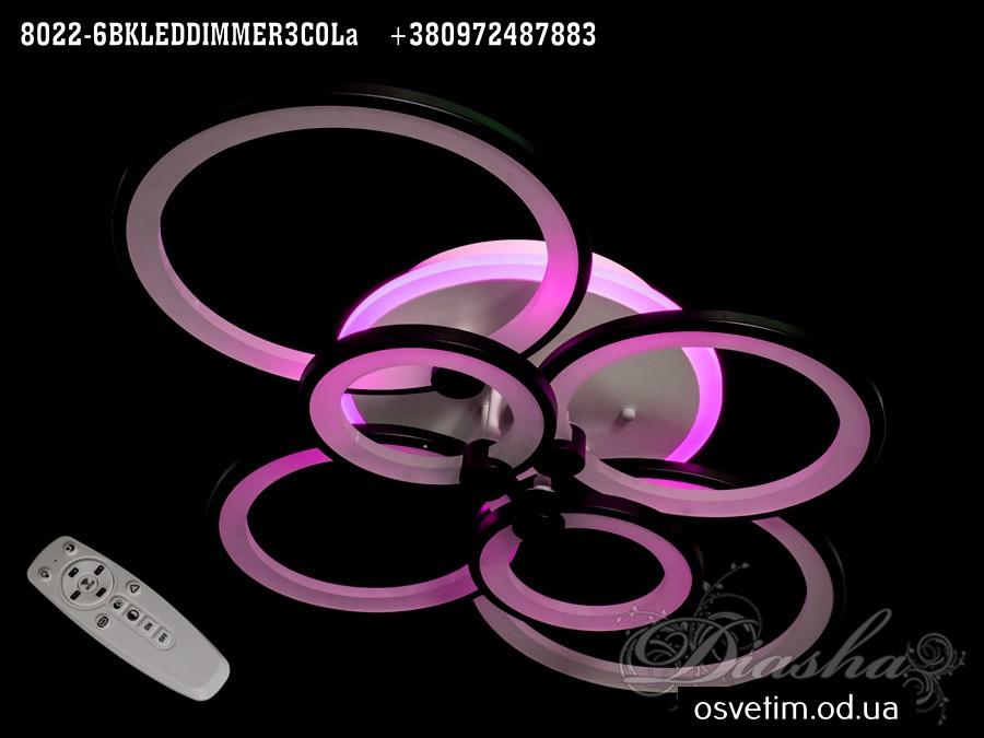 Люстра диодная вытянутая потолочная 130 ват в коричневом цвете Diasha&8022/6CF LED dimmer