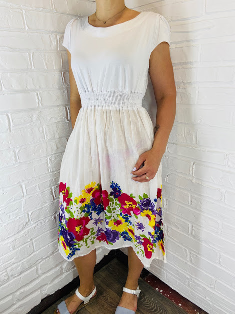 Платье женское батал Polina белое 52