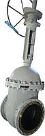 Задвижка стальная 30с564нж Ду300 Ру25 под редуктор