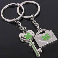 Парные брелки для влюбленных - Ключ и замок, Оригинальные подарки