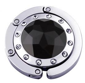 Крючок держатель для женской сумки Кристалл Черный, Оригинальные подарки