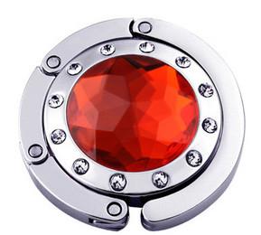 Крючок держатель для женской сумки Кристалл Красный, Оригинальные подарки