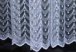 Тюль фатин с вышивкой, цвет белый. Код 440т(3*2,5) 40-026, фото 3