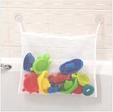 Сетка органайзер на присосках для игрушек в ванную, Оригинальные подарки, фото 2