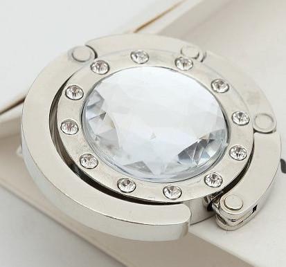 Крючок держатель для женской сумки Кристалл Прозрачный, Оригинальные подарки