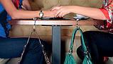 Крючок держатель для женской сумки Кристалл Прозрачный, Оригинальные подарки, фото 2