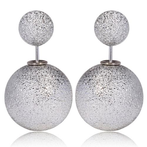 Серьги Dior Диор Tribal серебристые Звездная пыль, Бижутерия