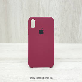 Чехол Silicone Case для Apple iPhone X / Xs light maroon