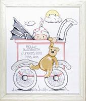 Набор для вышивания крестом Design Works T21743 Girl Baby Buggy Sampler