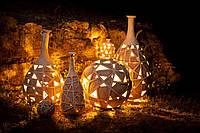 Світлодіодний світильник садовий декоративний ВАЗА плетена висока