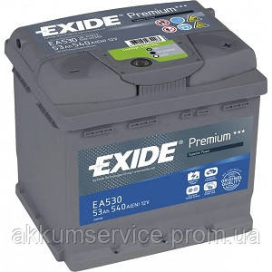 Акумулятор автомобільний Exide Premium 55AH R+ 460А (EC550)
