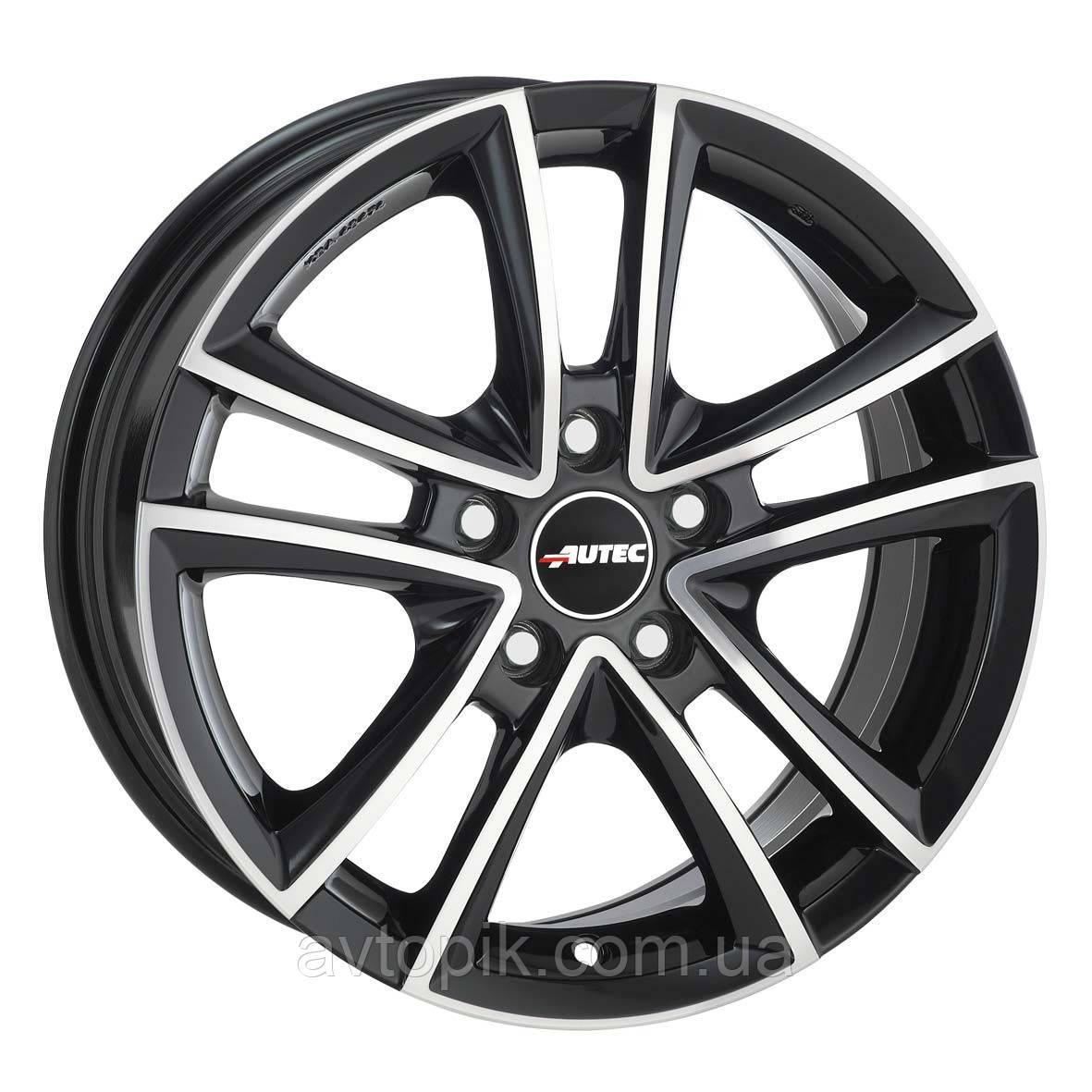 Литые диски Autec Yukon R15 W6.5 PCD5x100 ET43 DIA57.1 (black polished)