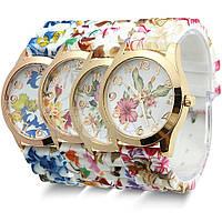 Часы наручные женские GENEVA Цветы Гибискуса (первые справа), наручные часы, женские часы, мужские часы