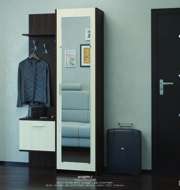 Прихожая с зеркальной дверью Эверест Мебель «Модерн-1»