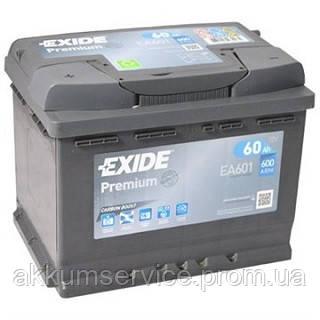 Аккумулятор автомобильный Exide Premium 60AH R+ 600А (EA604)