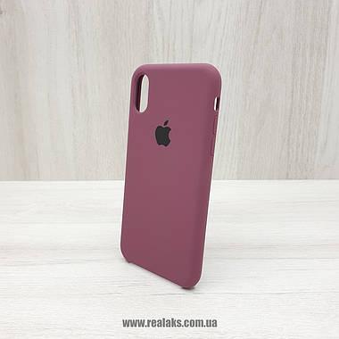 Чехол Silicone Case для Apple iPhone X / Xs maroon, фото 2