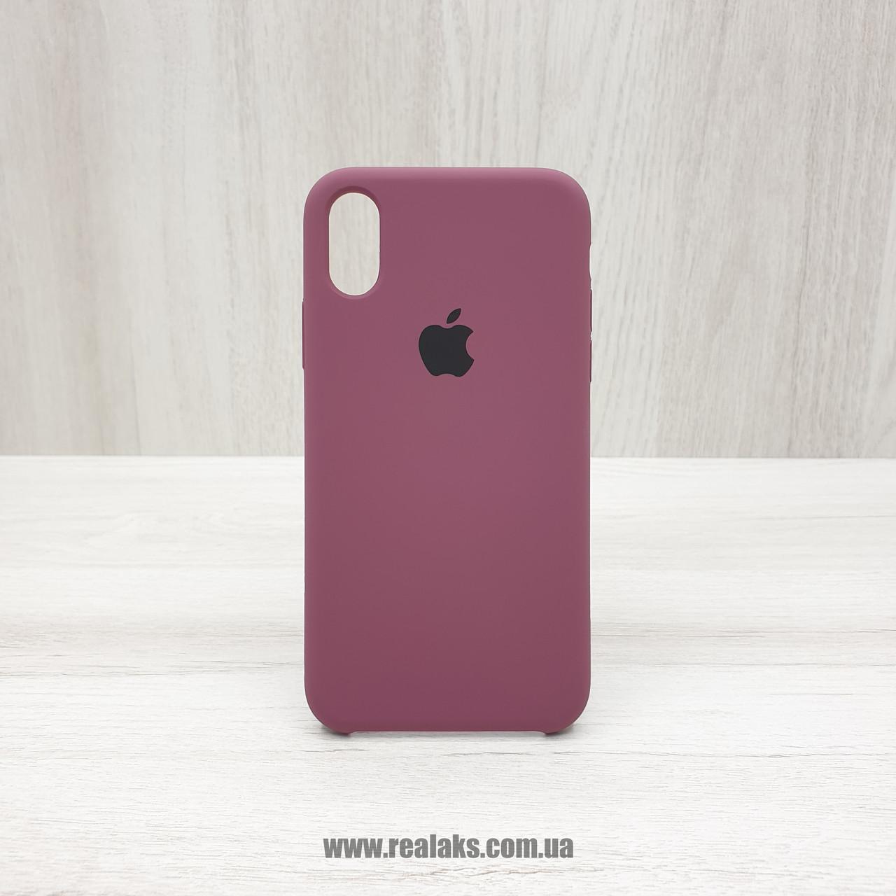 Чехол Silicone Case для Apple iPhone X / Xs maroon