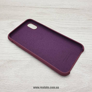 Чехол Silicone Case для Apple iPhone X / Xs maroon, фото 3
