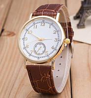 Часы Женева Geneva Питон коричневый ремешок 023-02, наручные часы, женские часы, мужские часы