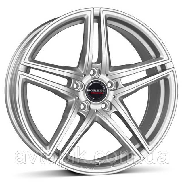 Литые диски Borbet XRT R18 W8 PCD5x112 ET45 DIA72.5 (brilliant silver)