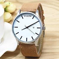 Мужские часы MVMT бежевые замшевые, наручные часы, женские часы, мужские часы