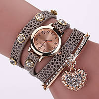Часы-браслет длинные, наматывающиеся на руку Пепельные 089-2, наручные часы, женские часы, мужские часы