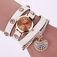Часы-браслет длинные, наматывающиеся на руку Белые 089-5, наручные часы, женские часы, мужские часы