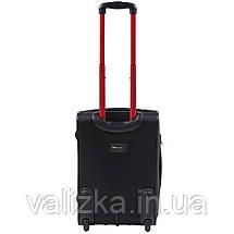 Малий текстильний валізу чорний з розширювачем Wings 214, фото 3