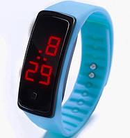 Спортивные силиконовые часы-браслет LED темно-голубые SW2-03, наручные часы, женские часы, мужские часы