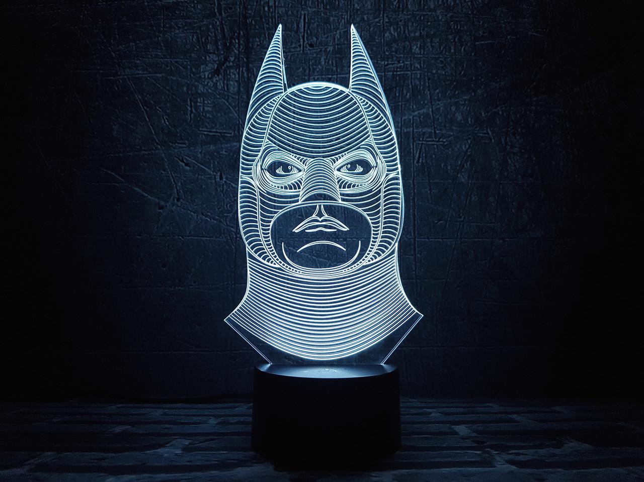 """Детский ночник - светильник """"Бэтмен 1"""" 3DTOYSLAMP"""