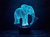 """Детский ночник - светильник """"Слон 2"""" 3DTOYSLAMP, фото 2"""