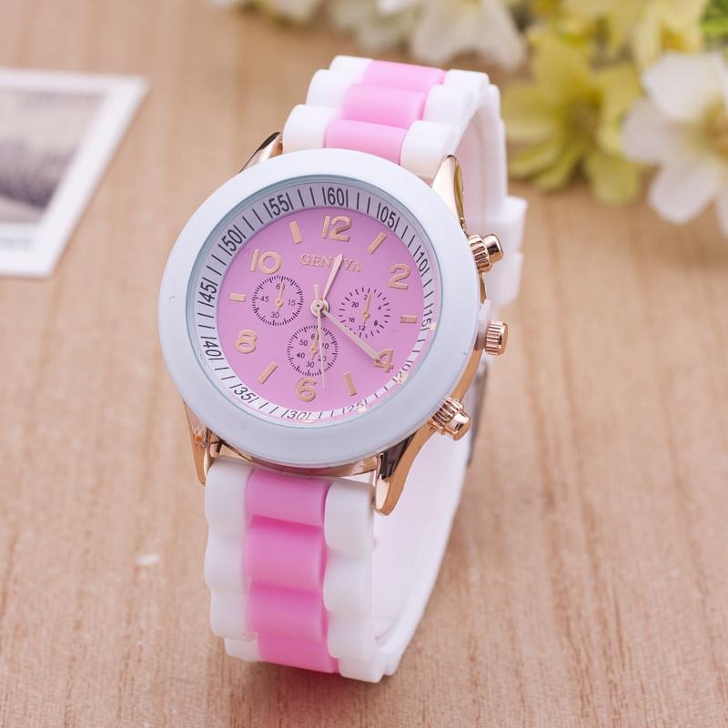 Часы наручные женские GENEVA sport розовые, наручные часы, женские часы, мужские часы