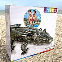 Надувной плотик Intex для плавания «Алигатор», 170*86 см, с двумя ручками (57551)