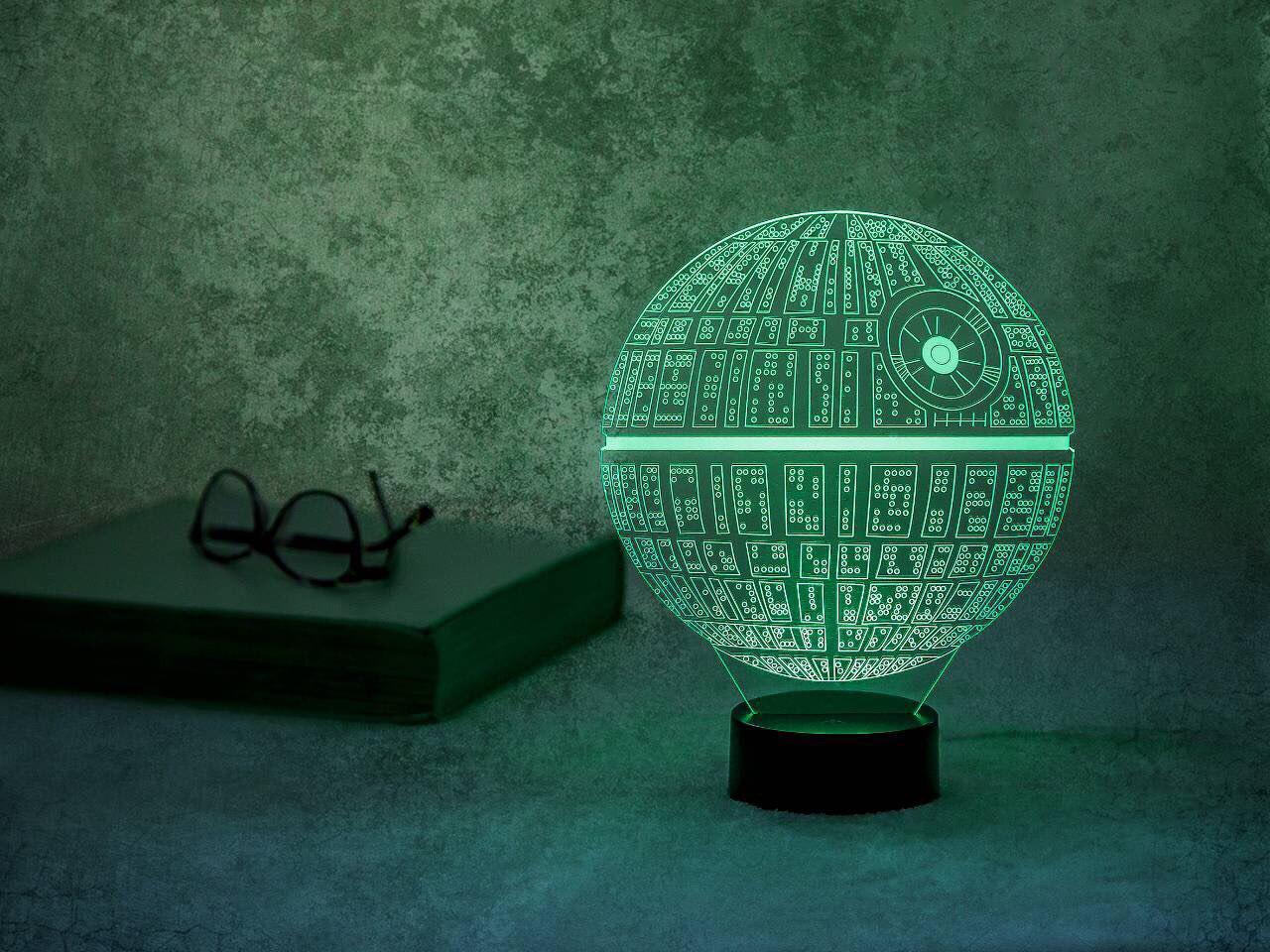 Ночник 3D светильник «Звезда смерти» 3D Creative