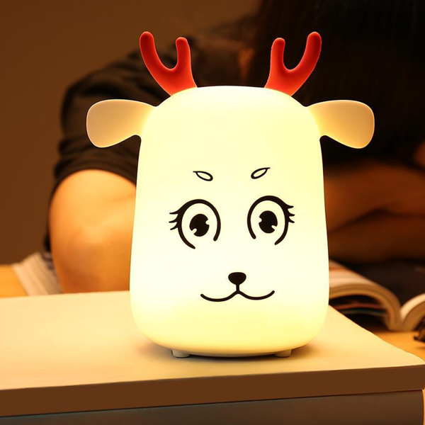 """Силиконовый ночник-игрушка """"Оленёнок""""  3DTOYSLAMP"""