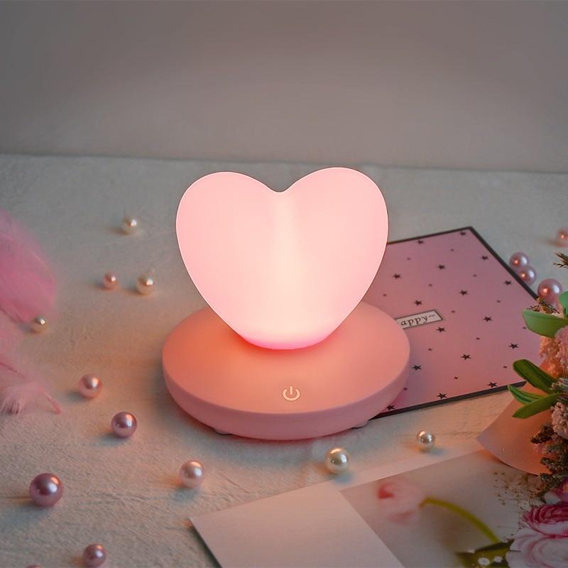 Силиконовый ночник «Сердце» розовое 3DTOYSLAMP