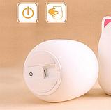Силиконовый ночник 3DTOYSLAMP Мишка с розовыми ушками 16 ветов Пульт ДУ, фото 6