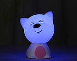 Дитячий нічник 3DTOYSLAMP Веселий песик Рожевий, фото 2