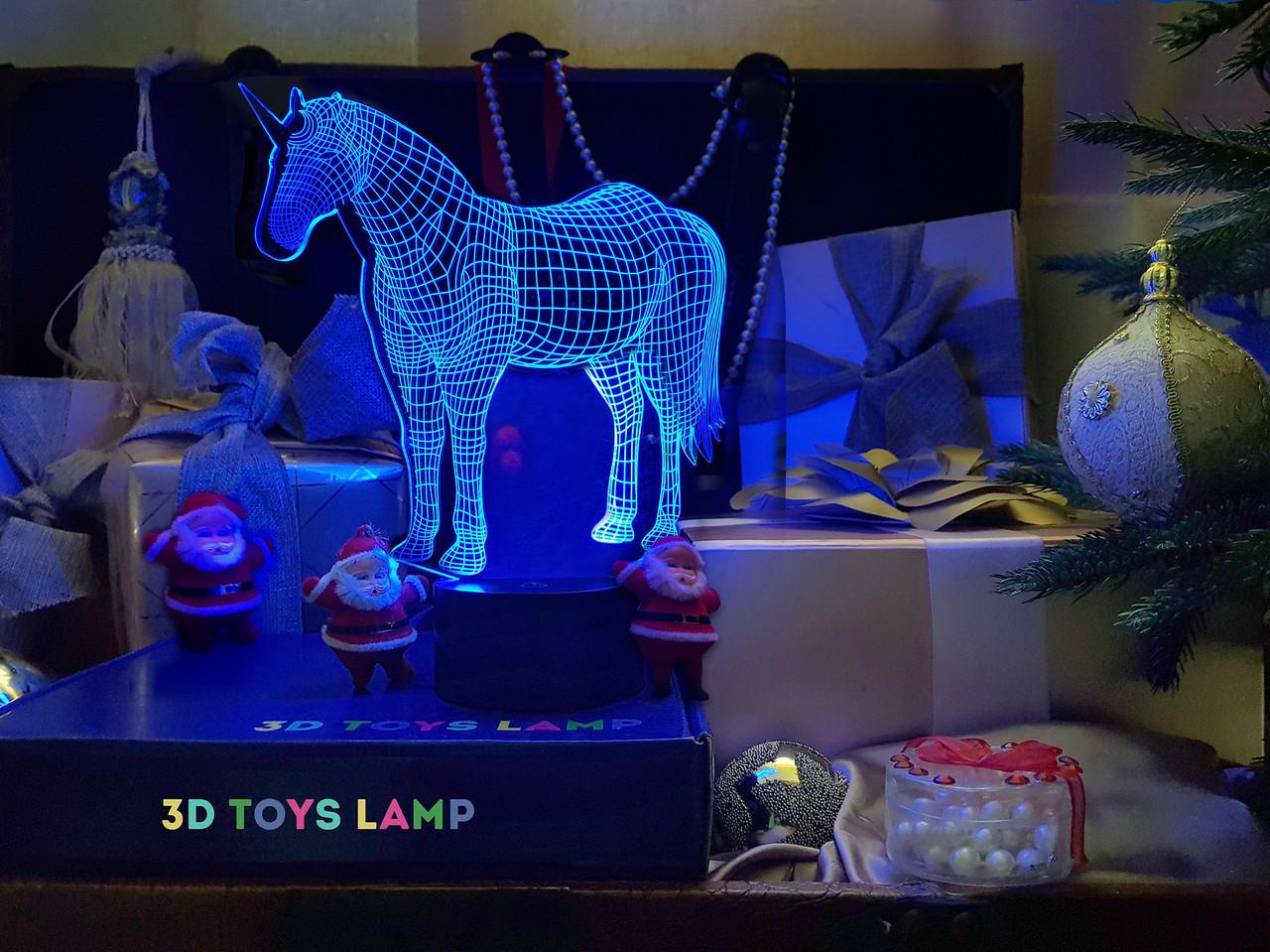 """3D светильник ночник """"Единорог"""" 3DTOYSLAMP"""