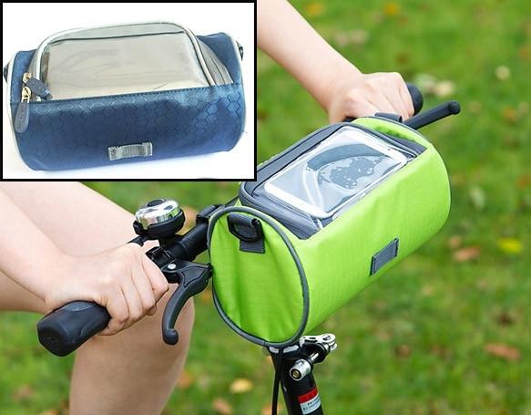 Сумка для путешествий, Велосумка на руль под смартфон (Синяя), Органайзеры, косметички, кофры